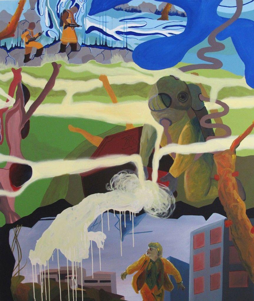 JORGE ANDRÉS PALOS, El Fantasma de la Profundidad II, Acrílico sobre Tela, 170 x 140 cm, 2013