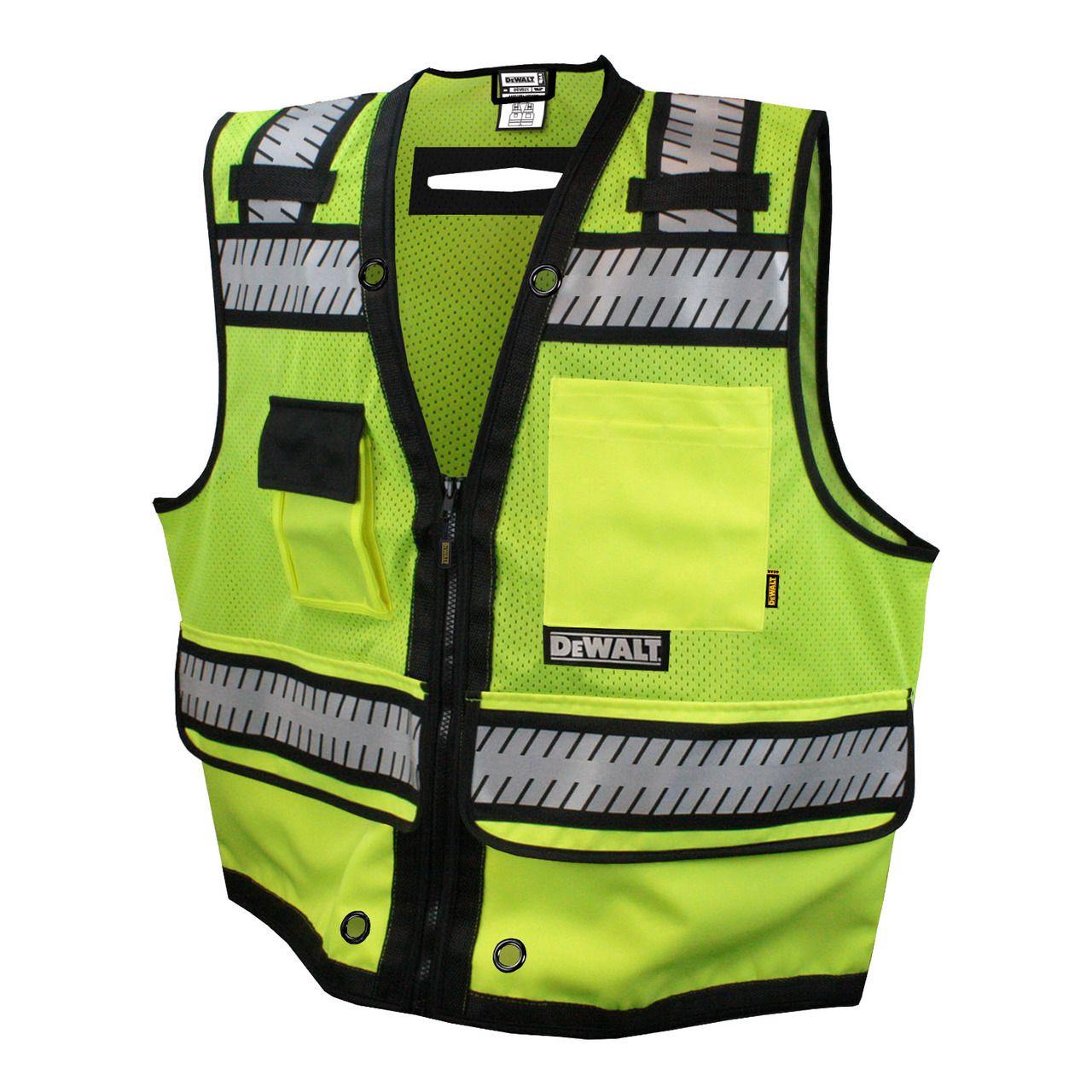 DeWalt DSV521 Class 2 Heavy Duty Surveyor Lime Safety Vest