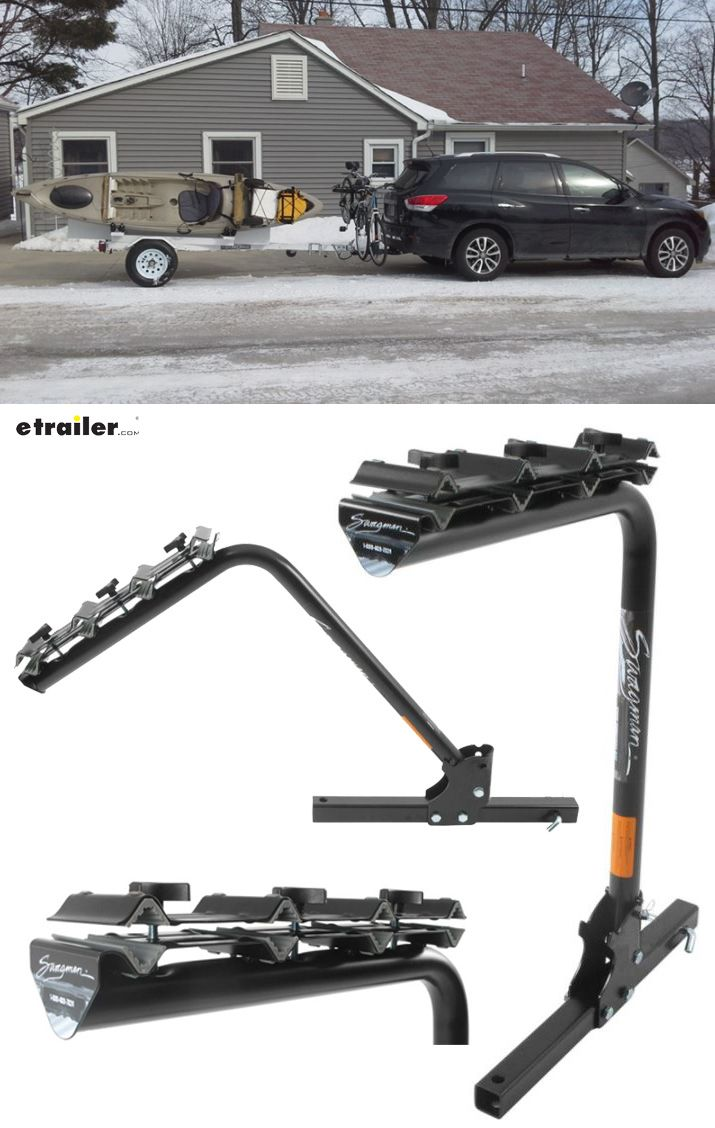 Swagman Original 4 Bike Towing Rack For 2 Trailer Hitches