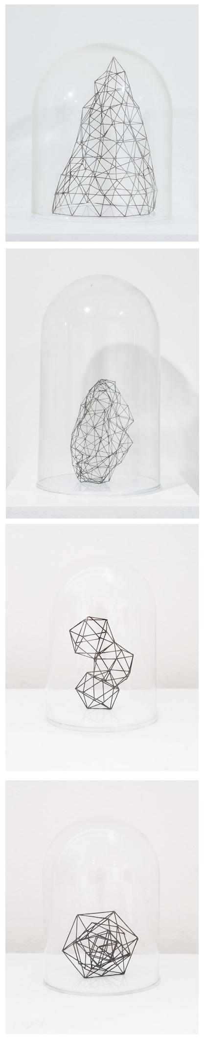 Peter Trevelyan || Mysterium cosmographica || 2014 || 0.5mm graphite, bell jar