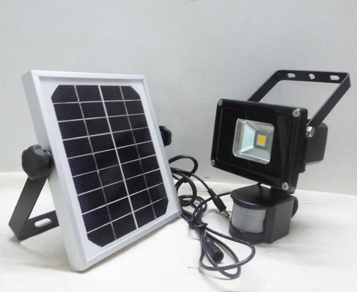 White Solar Lights Outdoor Part - 29: 10W Warm White Solar LED Floodlights Motion Sensor Security Solar Light  Outdoor Garden Spotlights Free Shipping