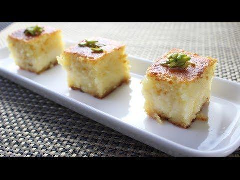 Yummy how to make basbousa with cream youtube recipes forumfinder Choice Image