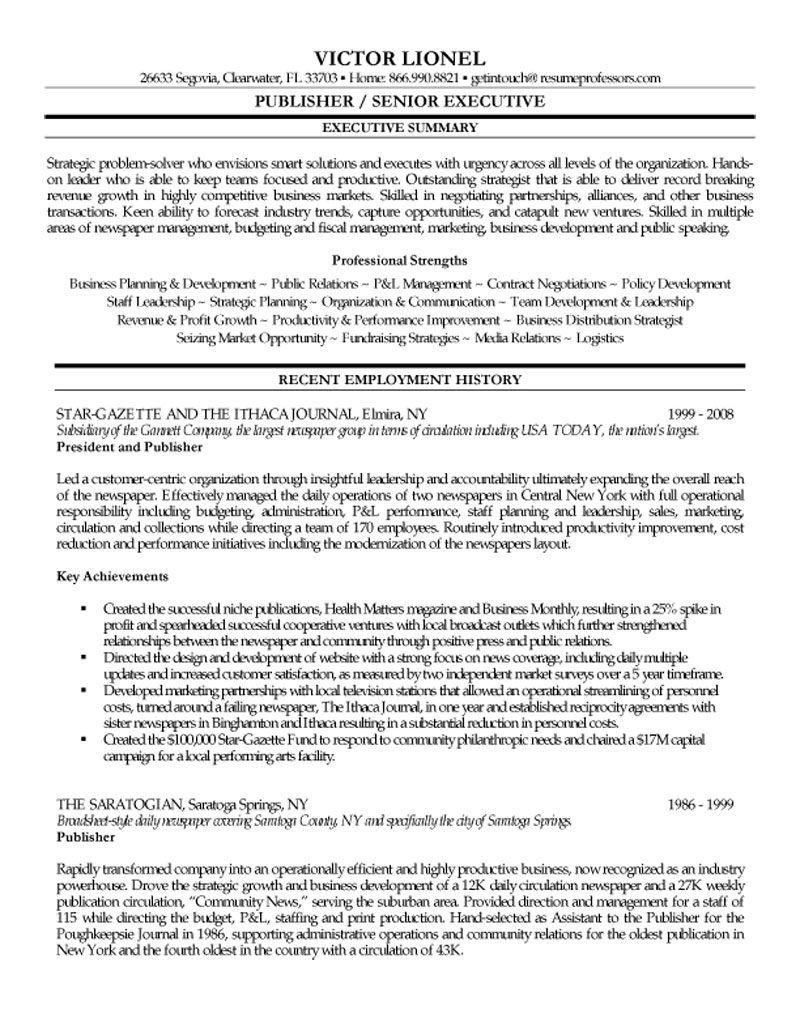 E Publishing Resume Format | Pinterest | Resume format