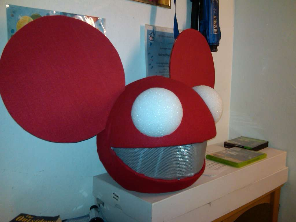 How To Make Your Own Deadmau5 Mau5head Mau5head Diy Costumes Kids Make Your Own