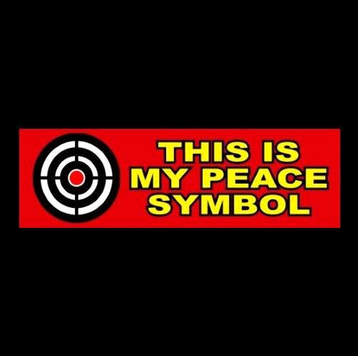 This Is My Peace Symbol 2nd Amendment Bumper Sticker Decal Nra Pro