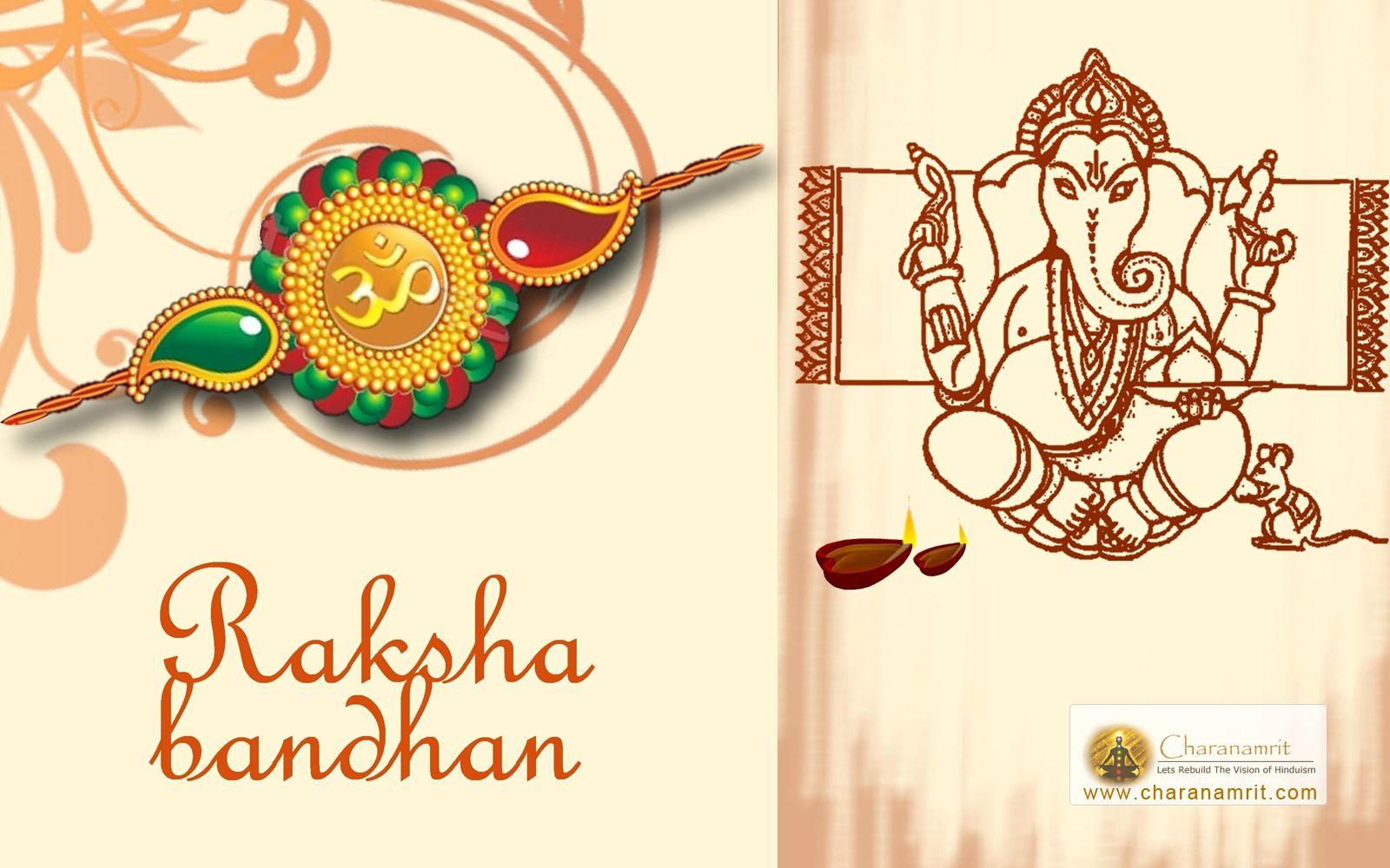 Happy Raksha Bandhan Ganesha Wallpaper Free Download From