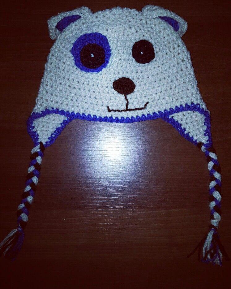 Gorro tejido al crochet  - Osito T: 7 años varon