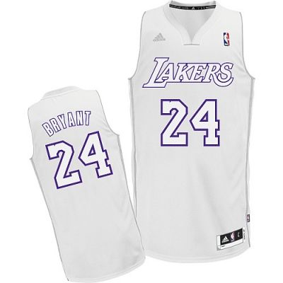 1f04a9be1b75 Kobe Bryant Swingman In White Adidas NBA Los Angeles Lakers Big Color  Fashion  24 Men s Jersey