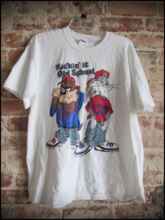 dcfa4d764 Vintage 90 s Looney Tunes Hip Hop Bugs and Taz Shirt by RackRaidersVintage