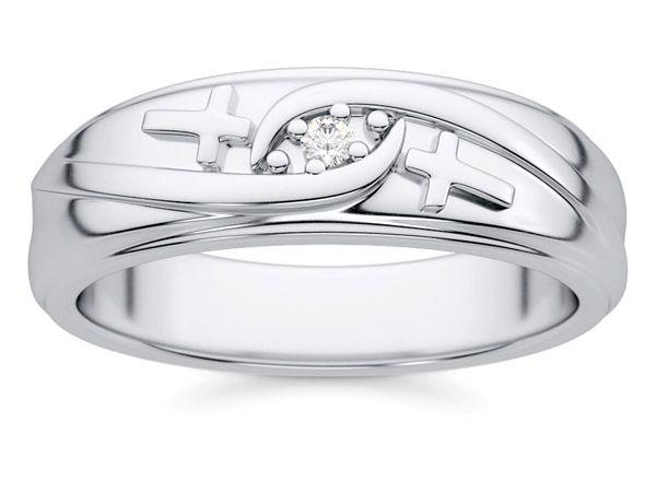 High Quality Christian Diamond Cross Wedding Band Ring For Men Amazing Ideas