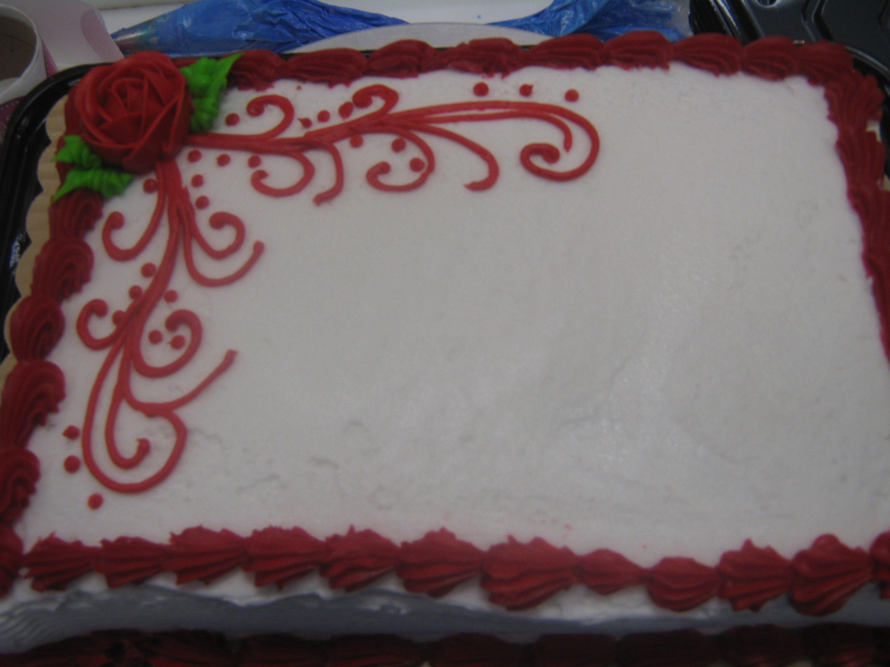 Roses Are Red 1 4 Sheet Buttercream With Images Walmart Cake