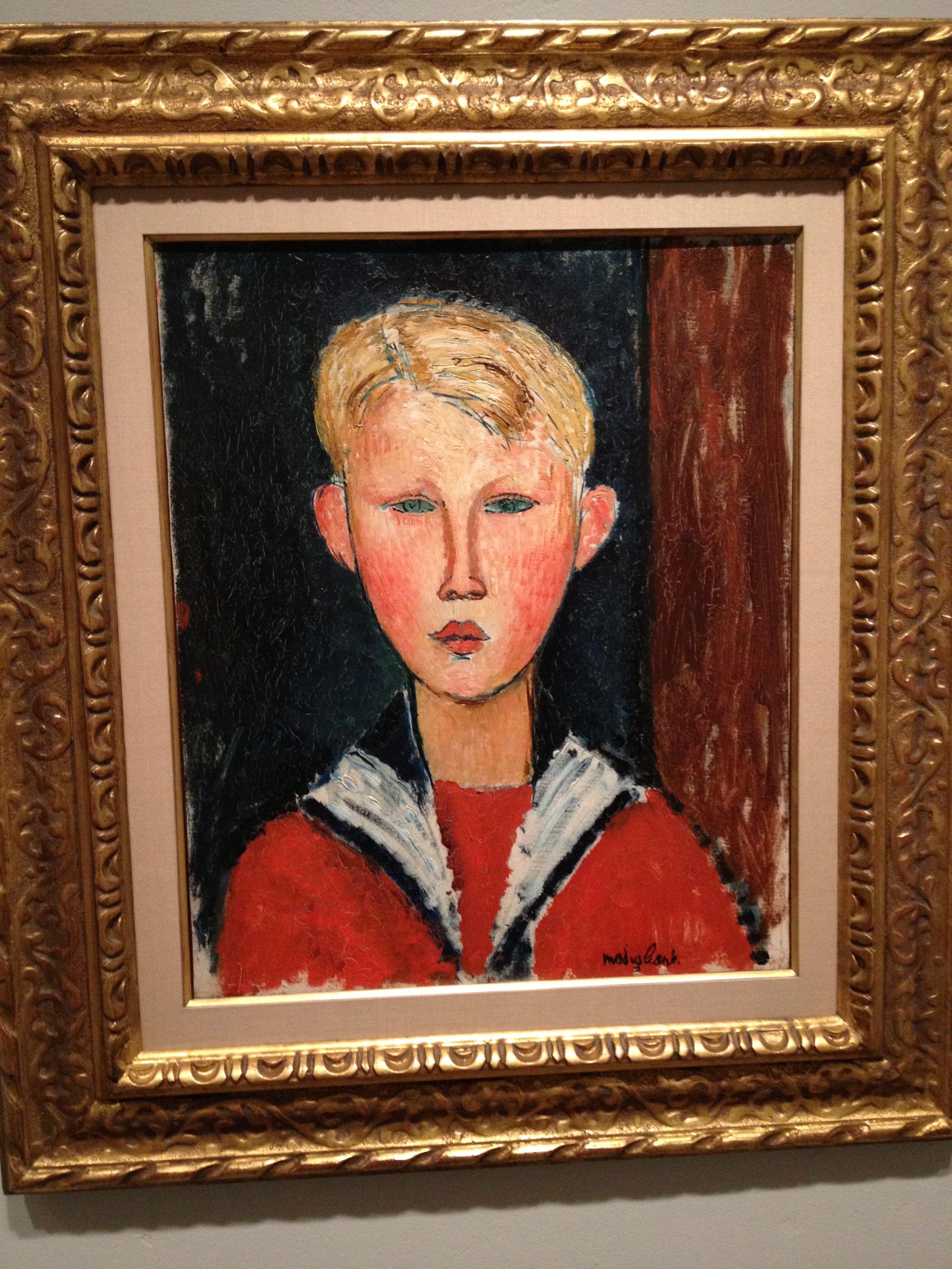 The Blue Eyed Boy by Modigliani.