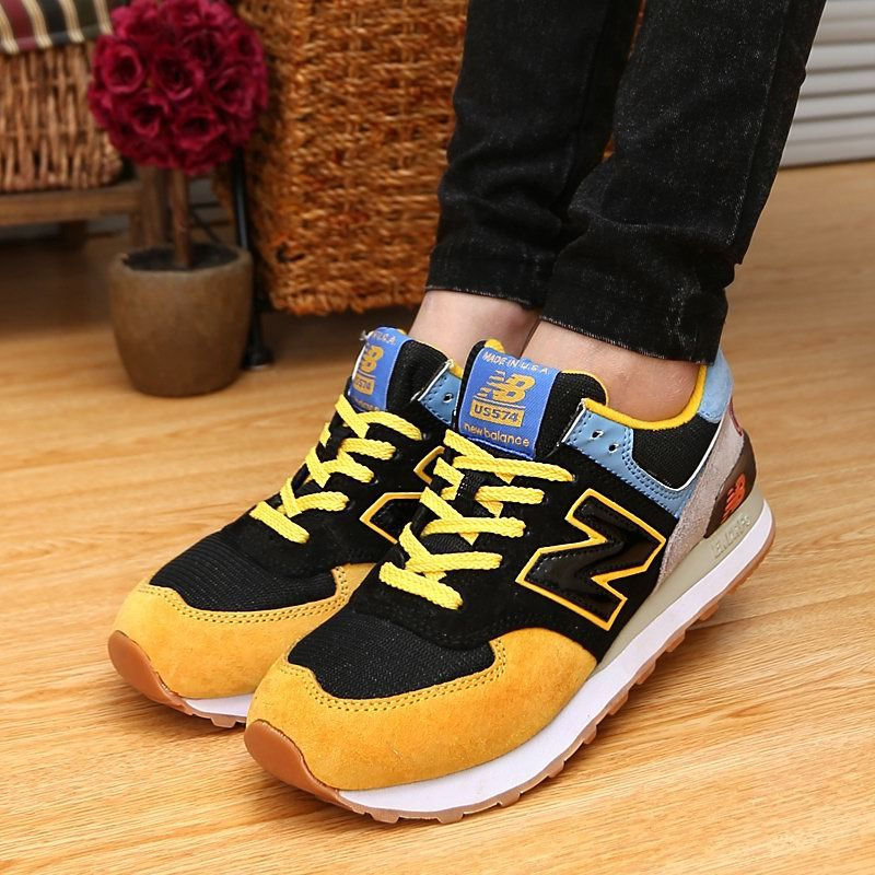 new balance us574 guardians of the galaxy black yellow blue unisex sneakers