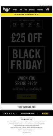 Dr Martens Black Friday Email 2015 Doc Martens Black Friday Email Design Black Blackfri In 2020 Black Friday Email Design Black Friday Email Design