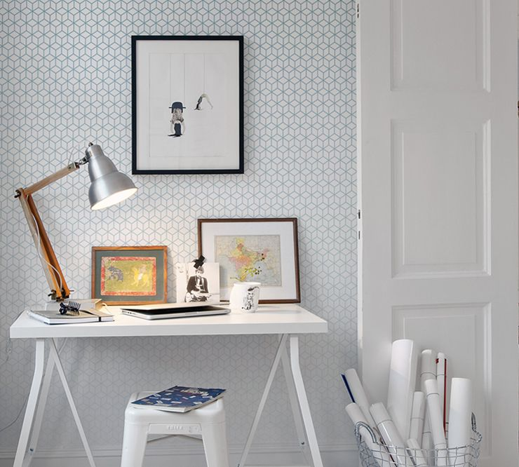papier peint kube meraude au fil des couleurs via. Black Bedroom Furniture Sets. Home Design Ideas
