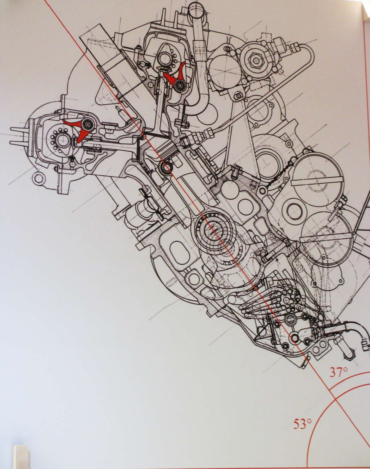 Blueprint Design Visualization Pinterest Ducati Motoorcycle Engines Diagram Technical Illustration Drawing Mechanical Engineering Motorcycles