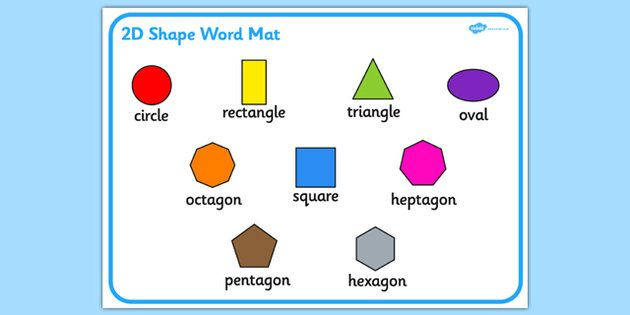 Worksheets Shape Name yli tuhat ideaa 2d shapes names