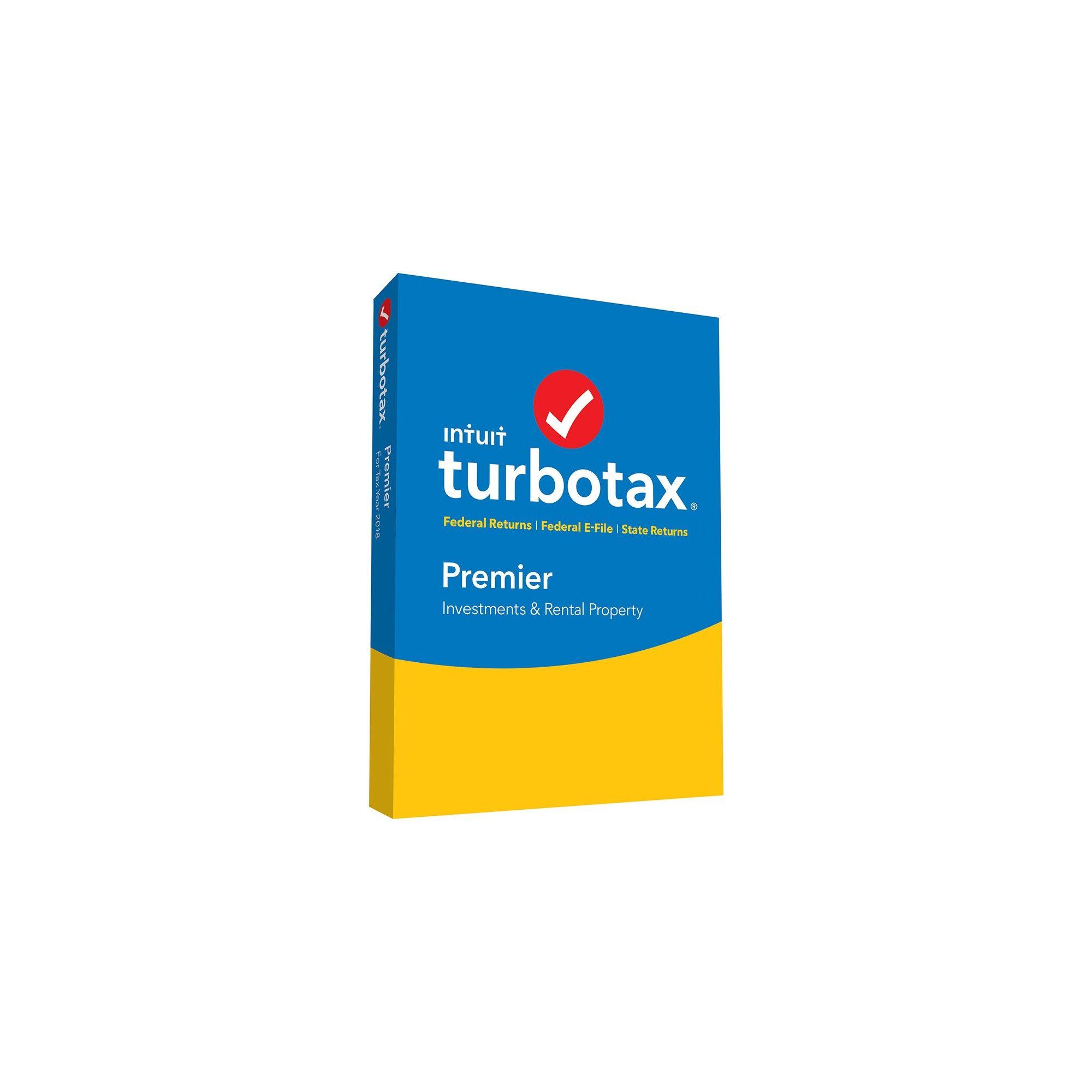 Intuit Turbotax Premier Federal +State 2018 Mac ESD Download