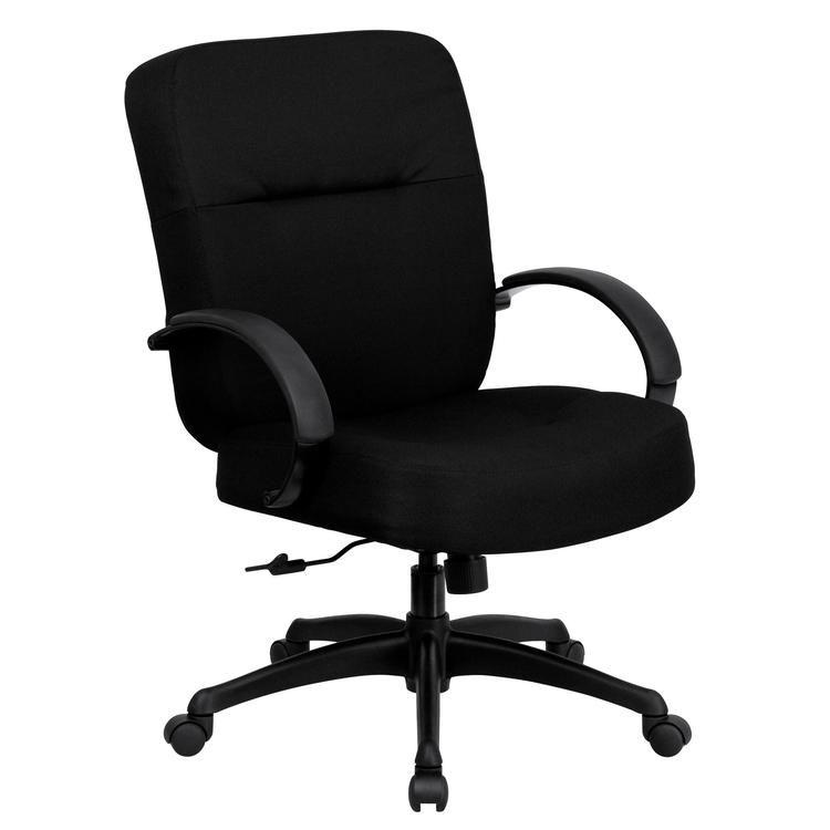 Hercules 500 Lb Capacity Big Tall Black Fabric Office Chair