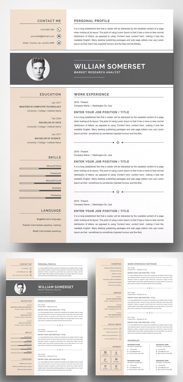 20 Best Simple Clean Resume Templates Clean resume