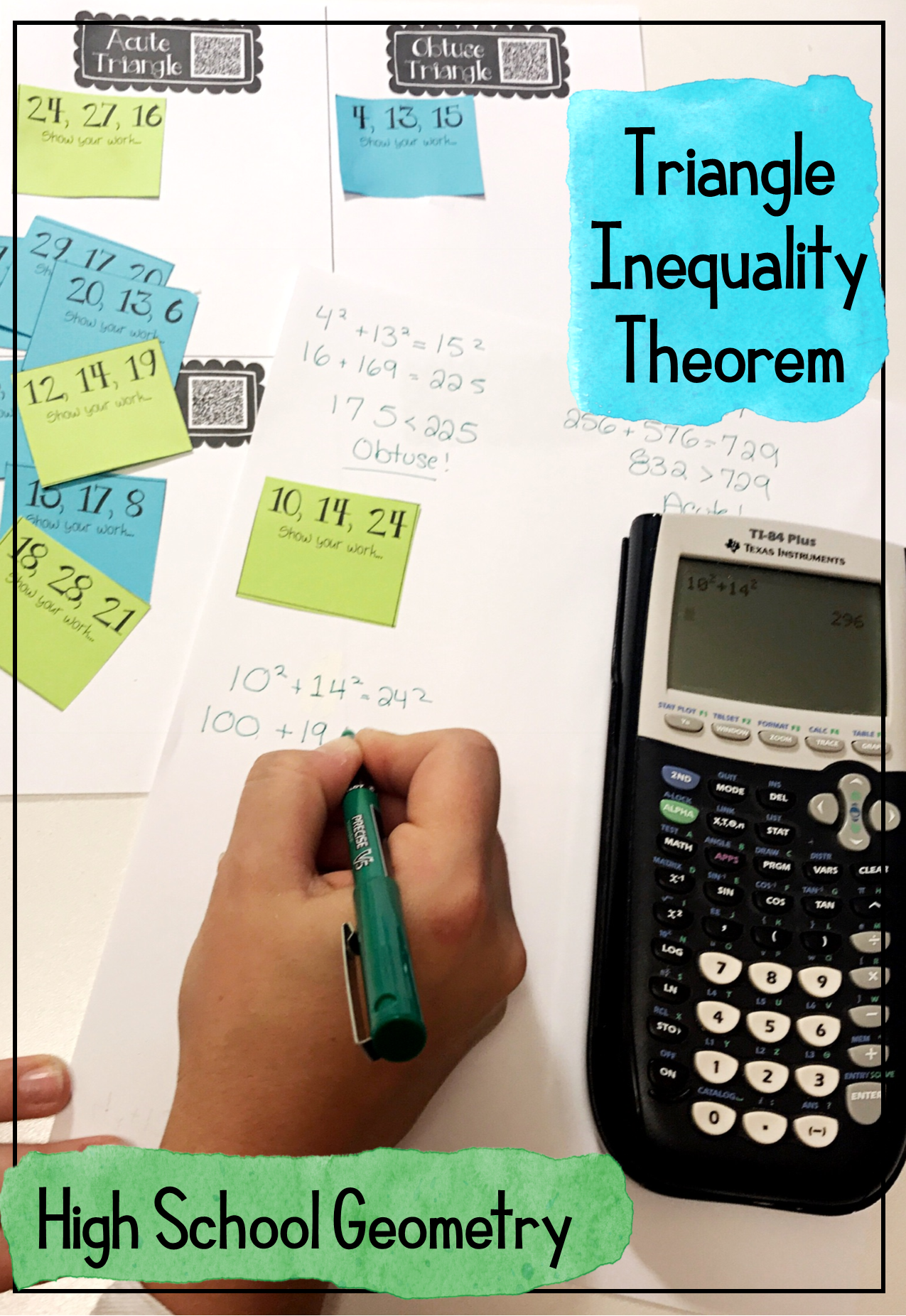 Pythagorean Amp Triangle Inequality Theorems Card Sort