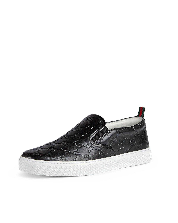 f079452417421 Gucci Dublin Signature Leather Slip-On Sneaker