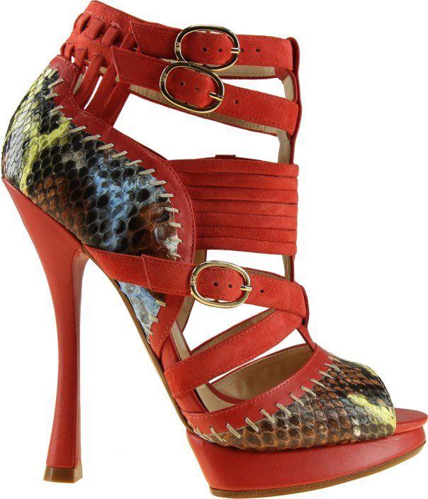 c3c5613a4ec Hand-painted reptile-skinned heels by Brazilian designer Alexandre ...