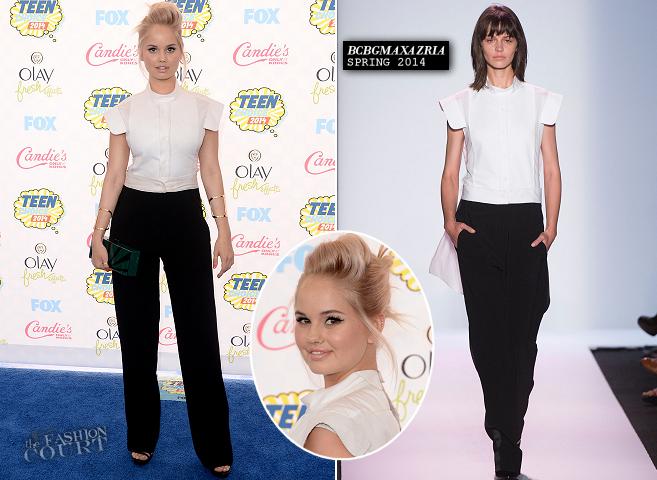 Debby Ryan in BCBGMAXAZRIA | 2014 Teen Choice Awards