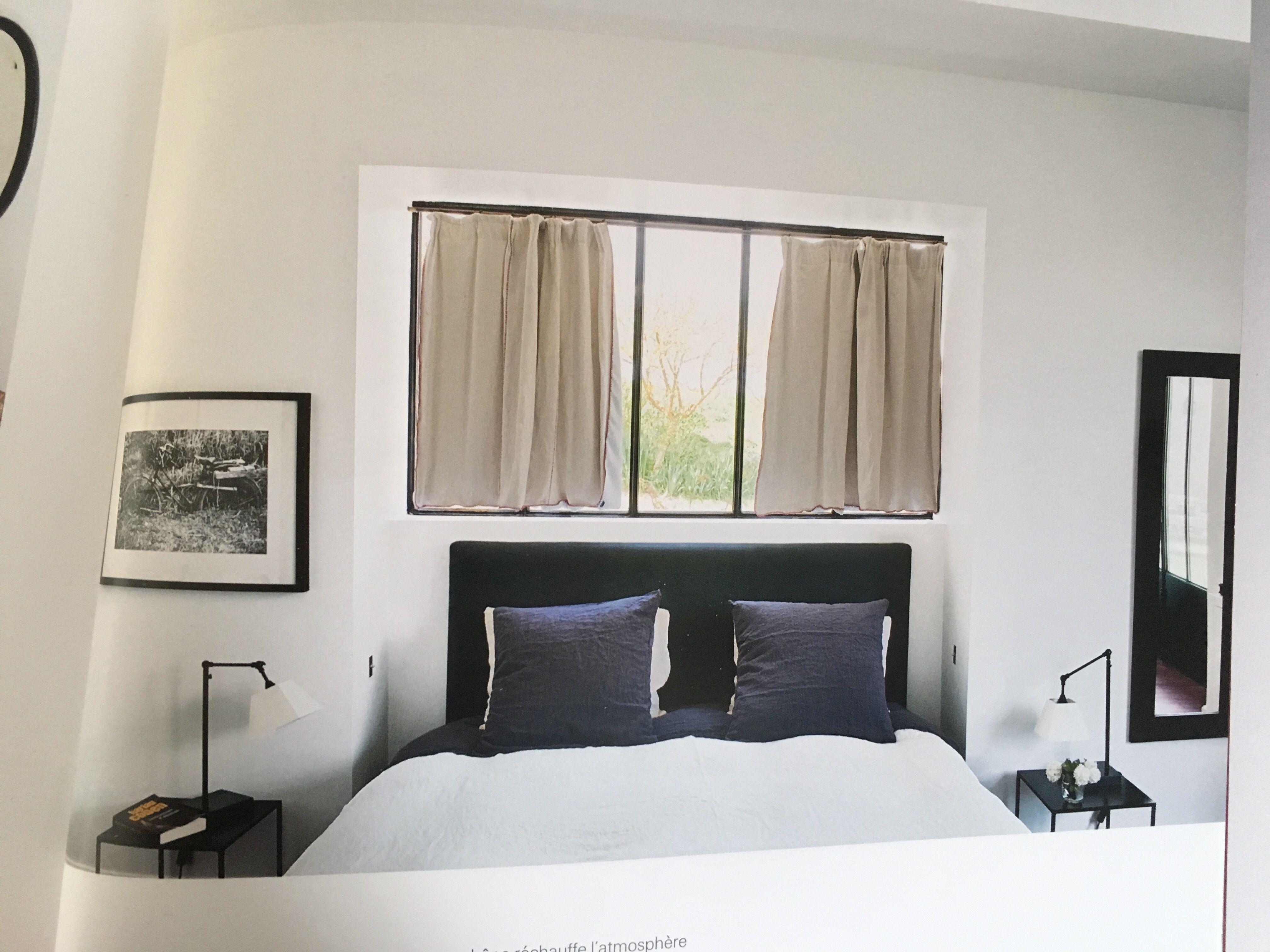 pour la fenêtre haute au dessus du lit  Amenagement chambre, Déco