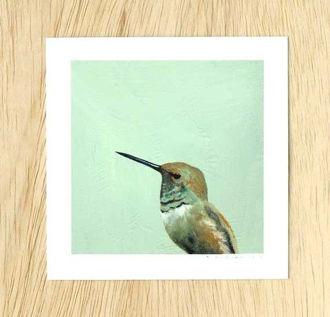 Mincing Mockingbird - Found this artist at Oh Susannah in Charlottesville and could not get enough.   5 x 5 Art Print - If I Send Silly Little Thrills Up And Down Your Spine, That Was Never My Intention