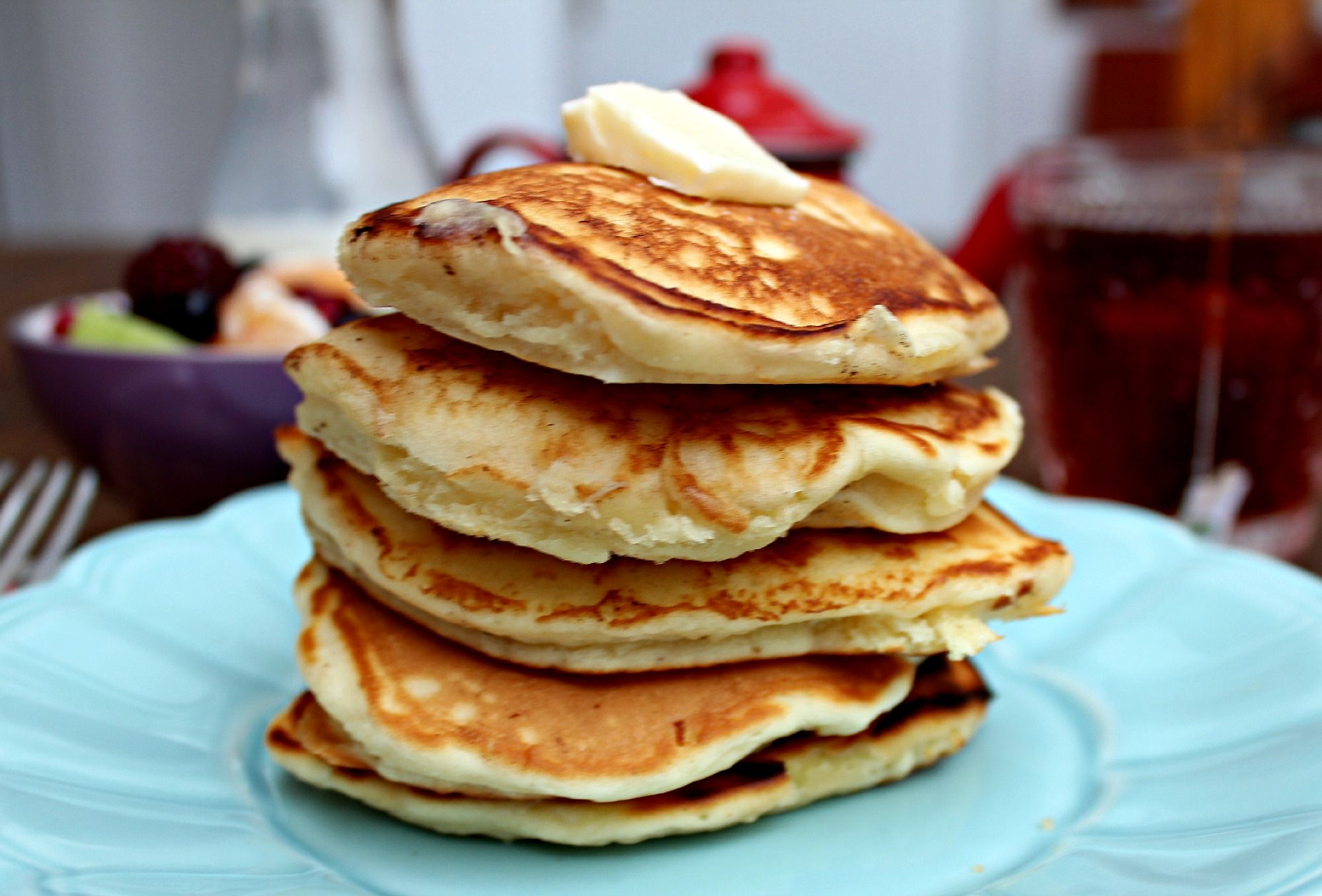 Old Fashioned Buttermilk Pancakes Buttermilk Pancakes Food Homemade Butter