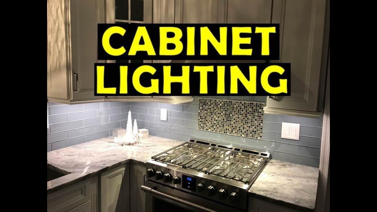 How To Install Cabinet Lighting Under Cabinet Youtube