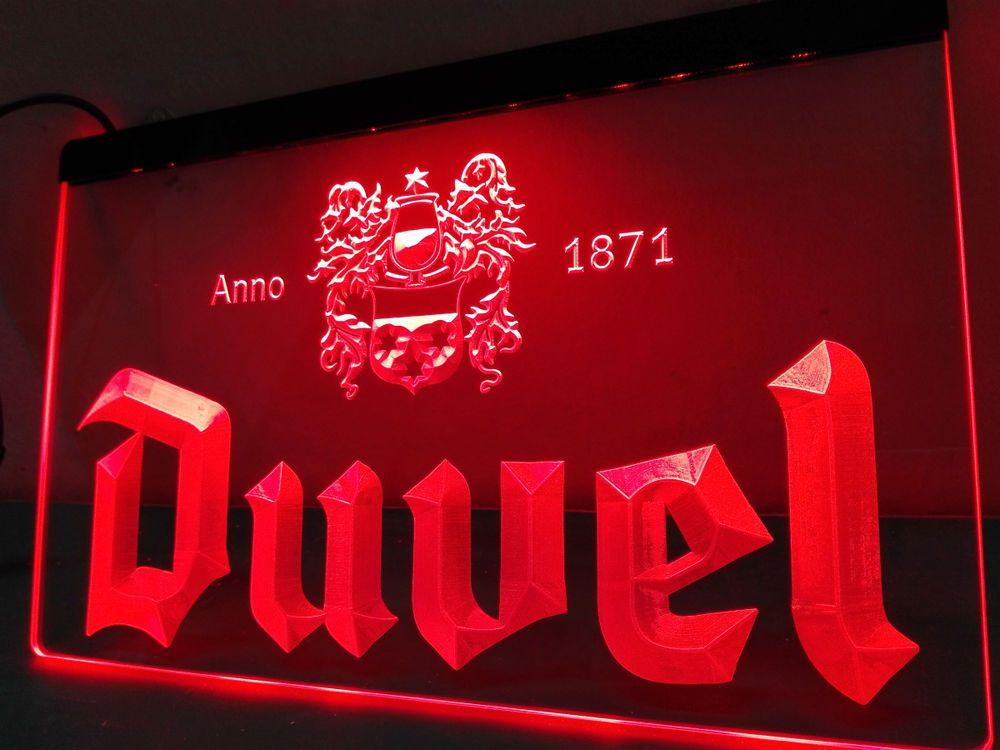 Duvel Beer LED Neon Light Sign Home Decor Crafts Man Cave