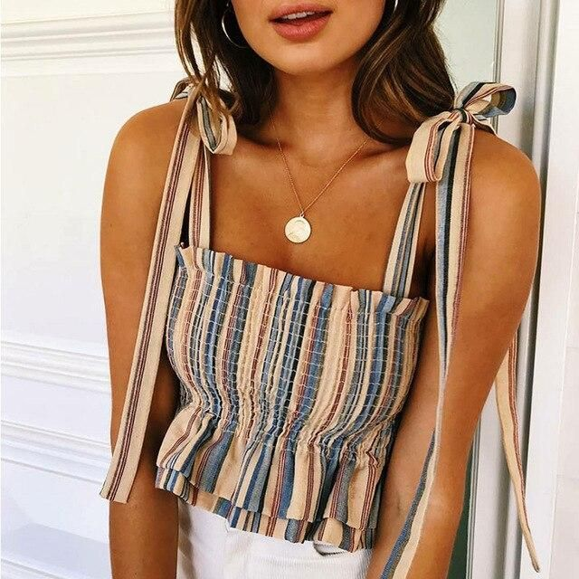 Photo of 19.99$ Buy now! #summerfashion Women Striped Tank Top Fashion New Summer Cool To…