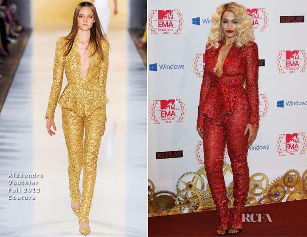 Rita Ora In  Alexandre Vauthier Couture – 2012 MTV EMAs Press Room
