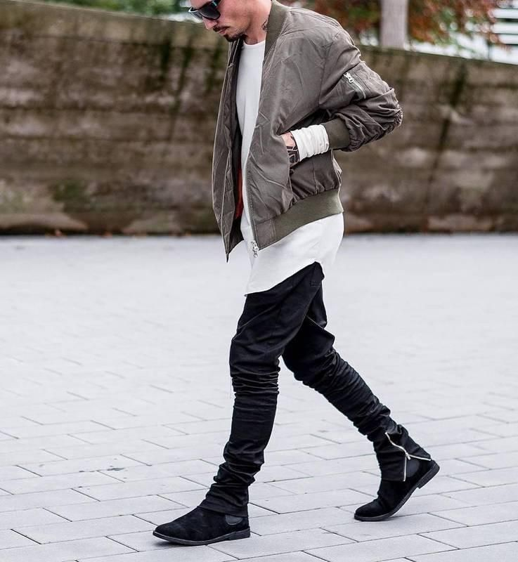 how to wear leather boots men