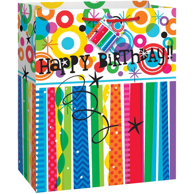 Mod Rainbow Happy Birthday Gift Bag