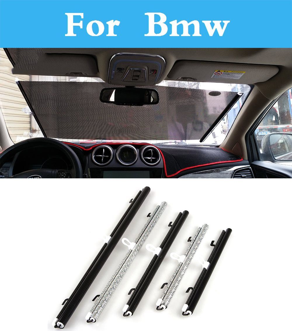 1pcs Front Car Windshield Sunshades Auto Retractable For Bmw E53 E60 E61 E39 E46 E52 E63 E90 F30 F10 X3 X5 X6 M 1 Car Shade Car Windshield Exterior Accessories
