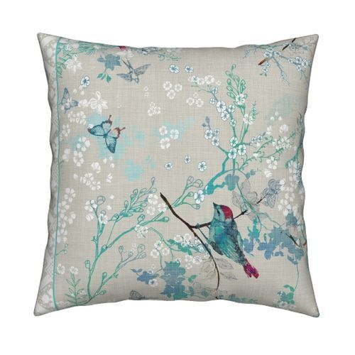 Colorful fabrics digitally printed by Spoonflower Birds