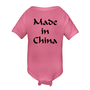 935c920e9c Made in China funny baby onesie.  14.99