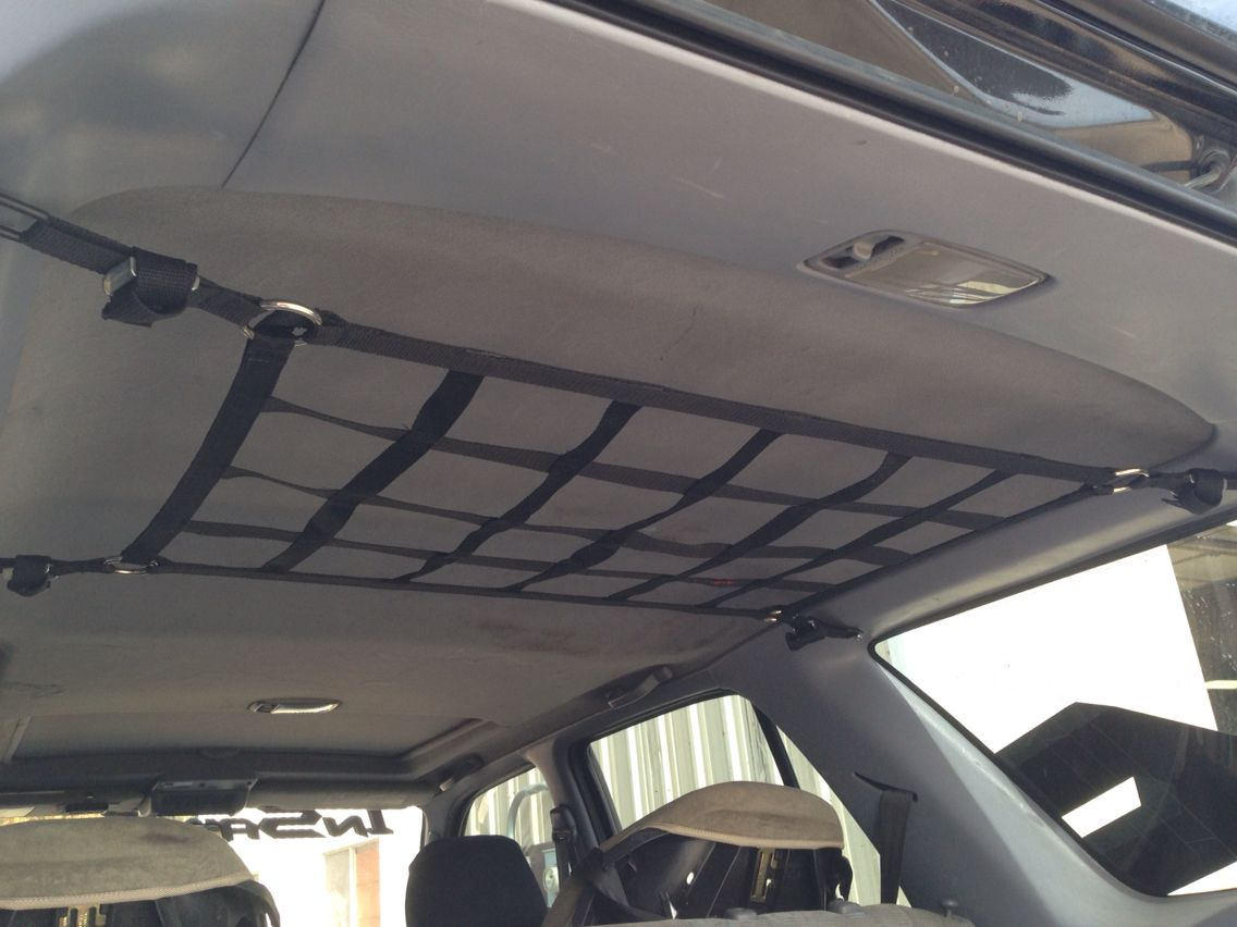 Ceiling Net In 3rd Gen 4runner Mounted With 200 Anchor Points Adjustable Down For Bags Jackets Etc Flush And Out Of V 4runner Toyota 4runner 4runner Mods