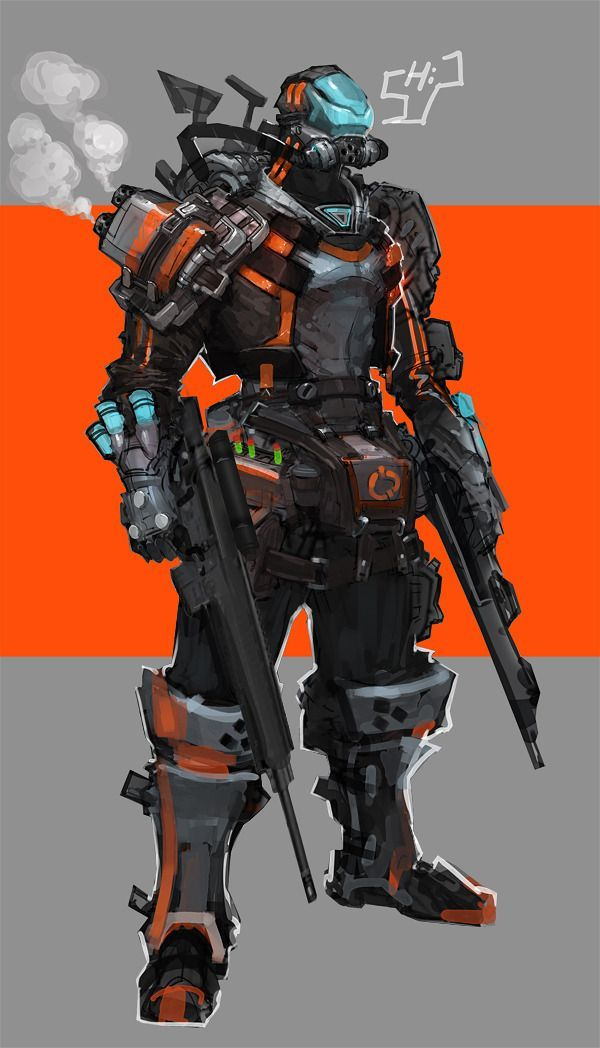 soldier future concept art - Google Search | A World of ... Futuristic Robot Soldier