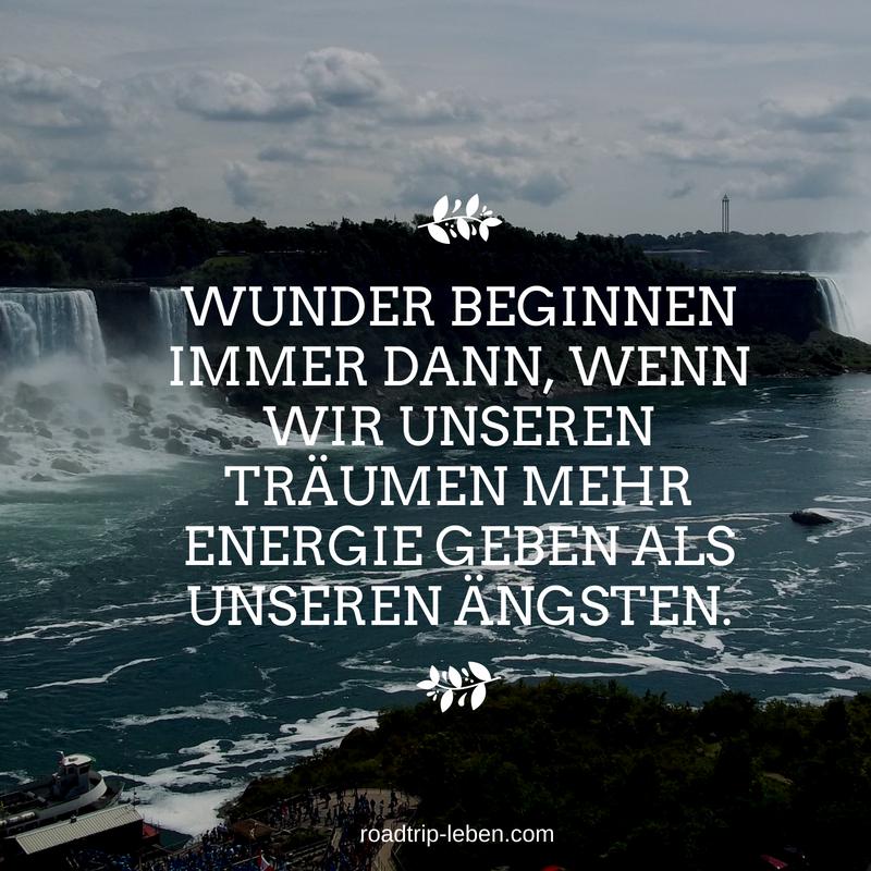Wunder beginnen immer dann, wenn wir unseren Träumen mehr Energie geben als unseren Ängsten. #quote #zitat #spruch #wunder #träume #ängste #selbstverwirklichung #mut #persönlichkeitsentwicklung #spiritualität