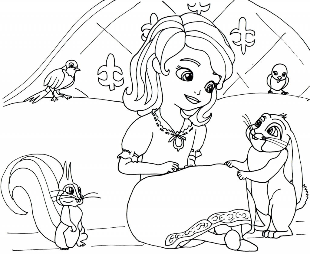 Disney Coloring Pages Sofia The First