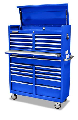 "masterforce 46"" tool chest & cabinet combo at menards 