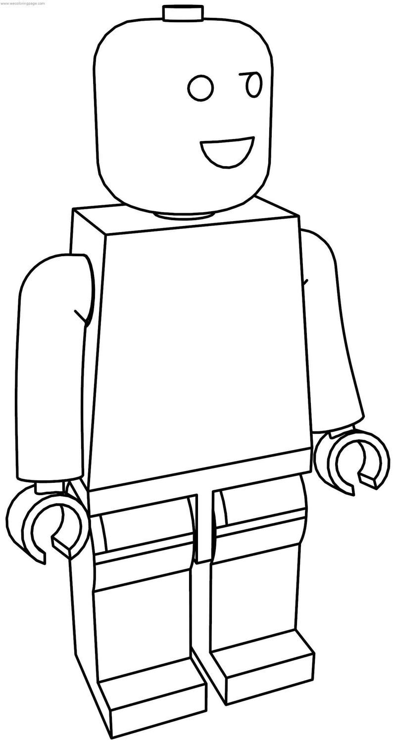 Normal Lego Man Coloring Page Dengan Gambar