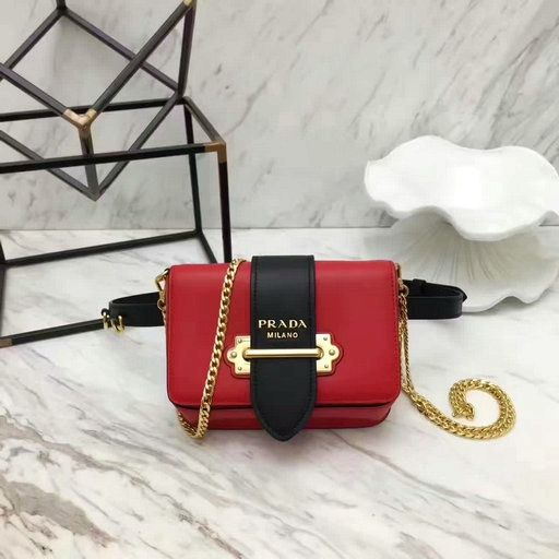856d02b21e96 #Prada Summer 2017#- Prada Cahier Calf Leather Fanny Pack Bag 1BL004  redblack #fashionbag