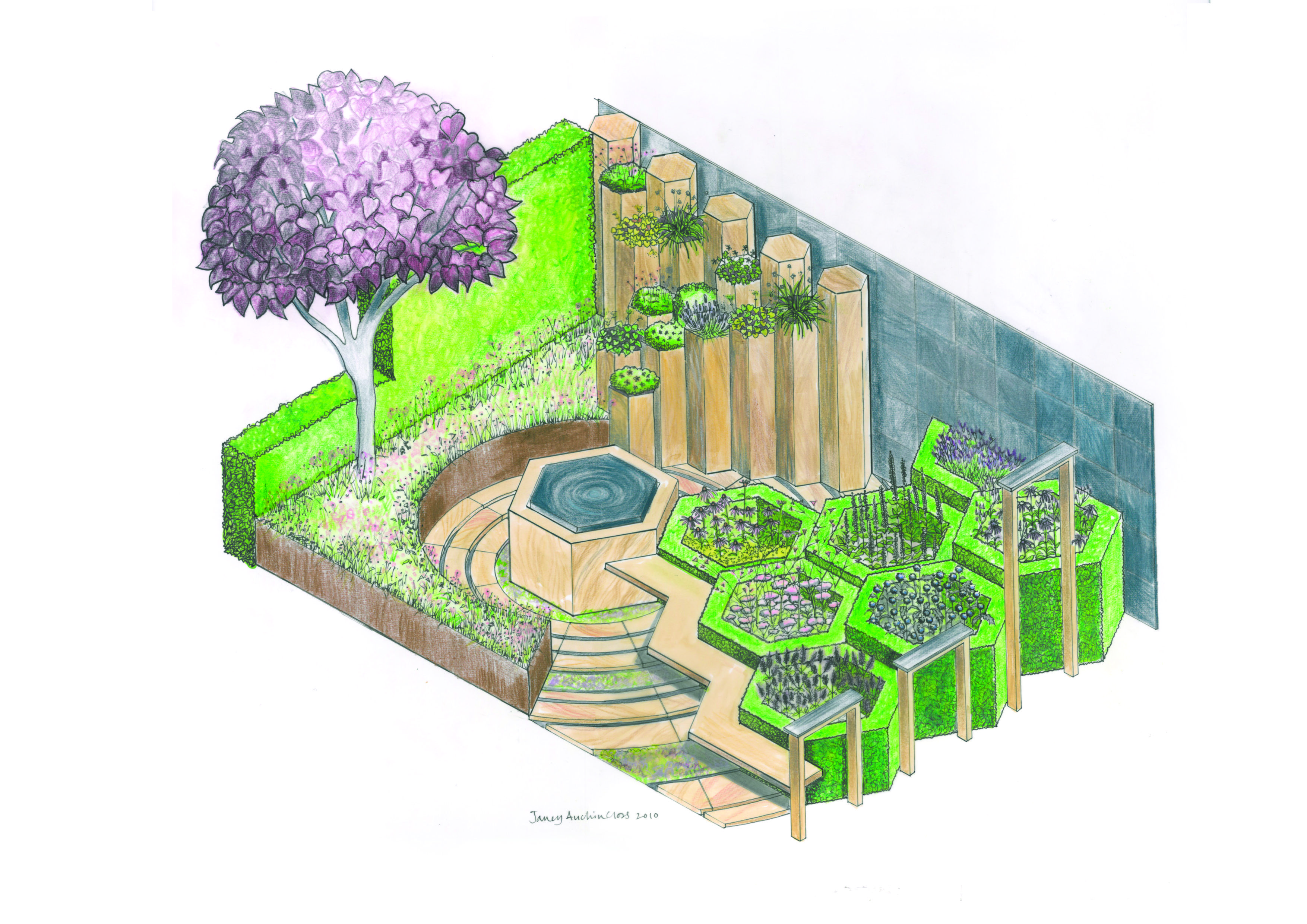 The Global Stone Bee Friendly Plants Garden At The Chelsea Flower Show Demonstrates How Careful Pla Bee Friendly Plants Bee Garden Design Bee Friendly Garden