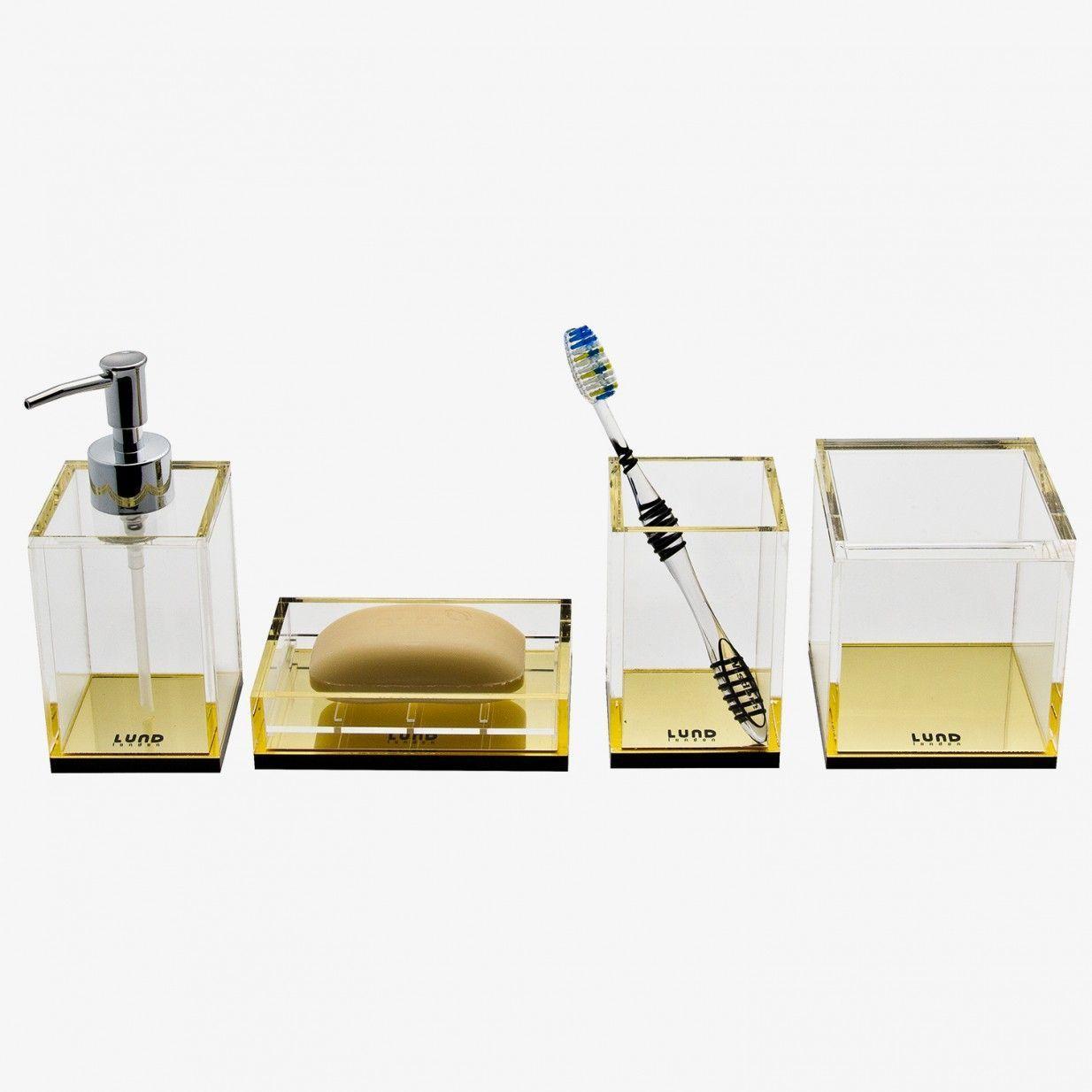 Badezimmer design weiß monoqi  flash gold behälter das weiß auch das label lund london