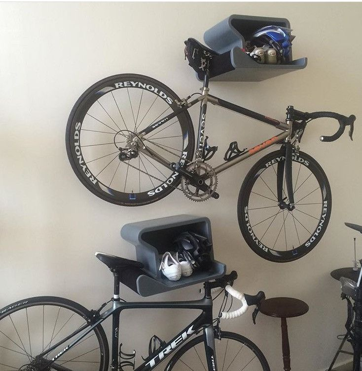 Modern Indoor Bike Rack That Looks Great With Or Without Bike Combining Sleek Design With Perfect Function Available Indoor Bike Rack Hanging Bike Rack Bike